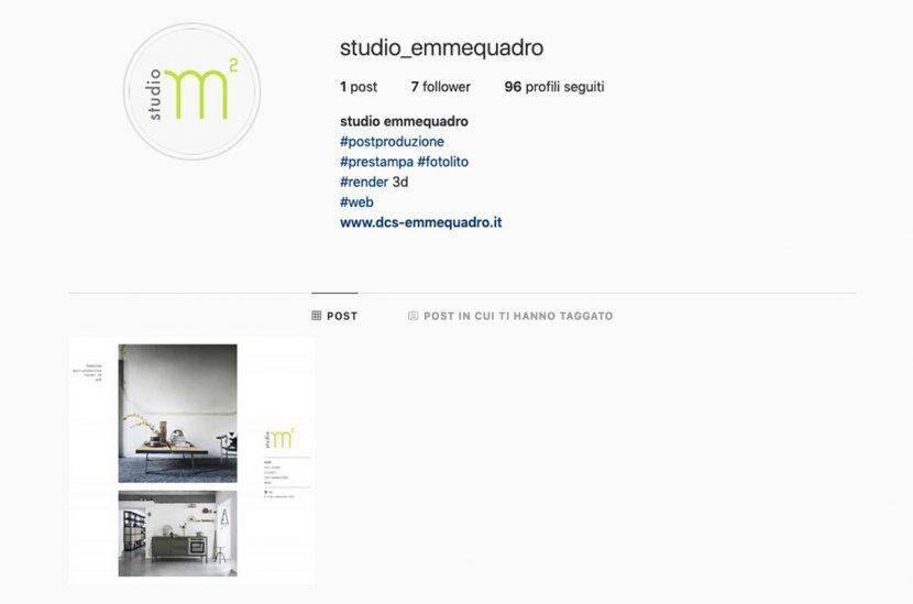 profilo instagram studio emmequadro
